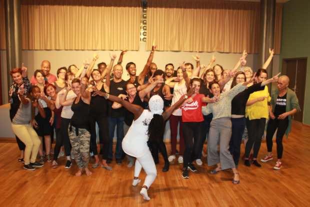 souvenir en cours de danse afro cubaines avec Aliuska barrientos paris 13