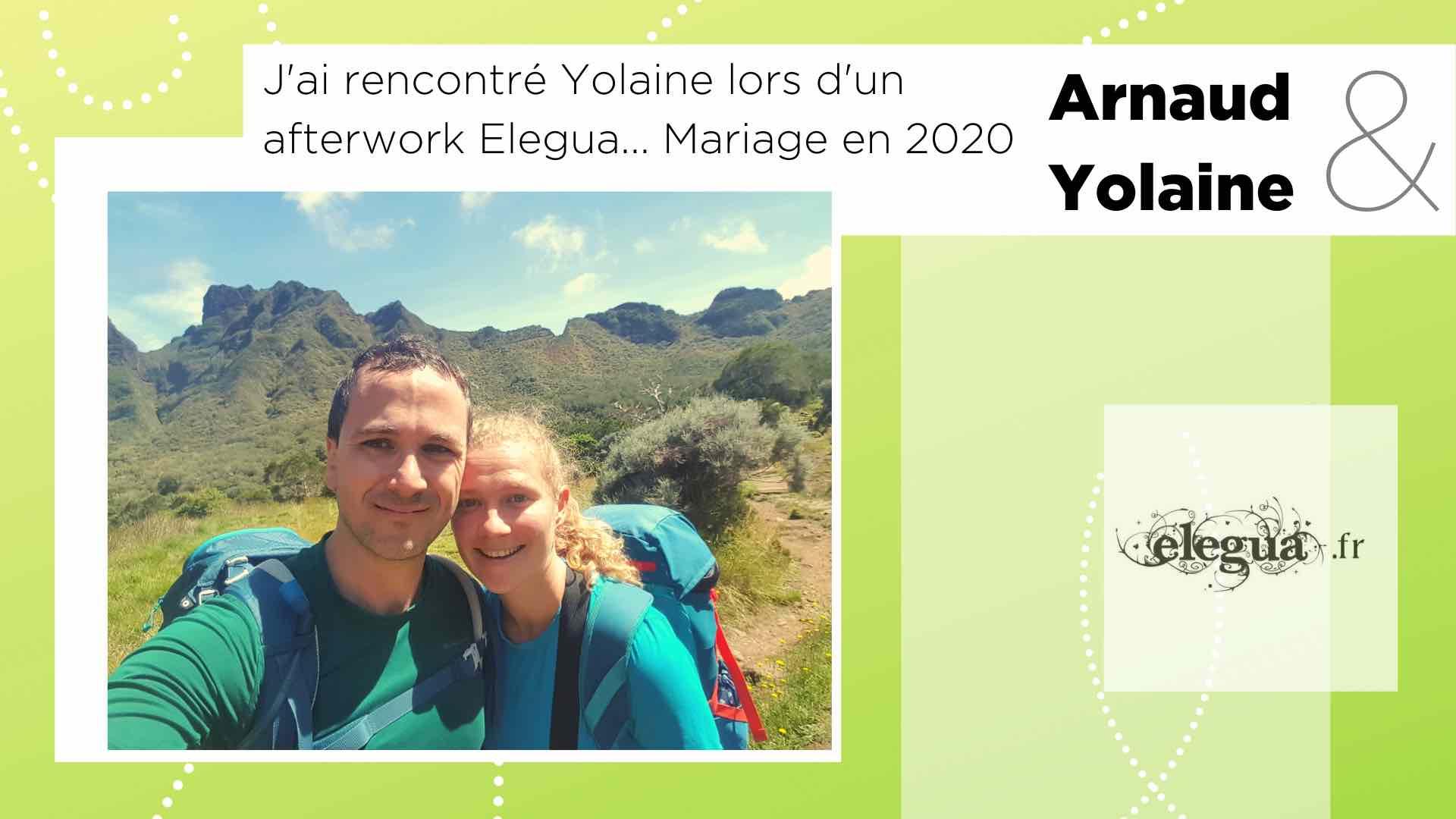 arIls ont rencontré l'amour chez Elegua : Arnaud et Yolaine. Pour la Saint-Valentin 8 couples nous partagent leur histoire...